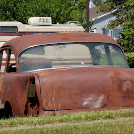 Rusted 57 Chevy by Rob Hallifax - Transportation Automobiles ( #classiccars, #rusty, #rust, #rusted, #57chevy,  )