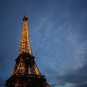 Eiffel Tower by Gaurav Dhup - Buildings & Architecture Statues & Monuments ( paris, eiffel tower, evening )
