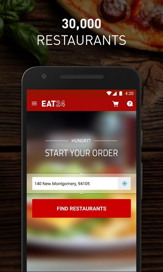 Eat24 Food Delivery & Takeout Screenshot 1