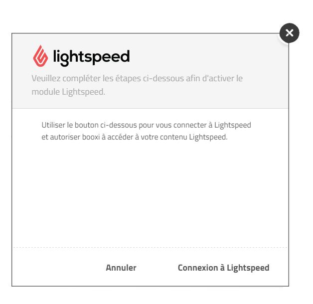 Connexion à Lightspeed