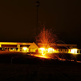 Steel Wool by Brendan Simpson - Abstract Fire & Fireworks ( steel wool photography, steel wool, night time, long exposure, steel, fire )