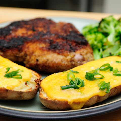 Date Night Pork Chops & Twice Baked Potatoes