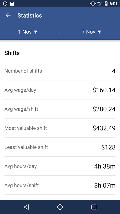 Shift Tracker Pro Screenshot 5