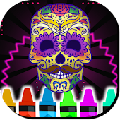 Game Skulls Mandalas For Adults APK for Kindle