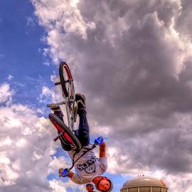 Upside Down by Darin Williams - Sports & Fitness Cycling ( bike, half-pike, bmx, stunt, bicycle )