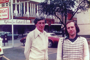 With Michael Tippett, Austin, Texas, 1975