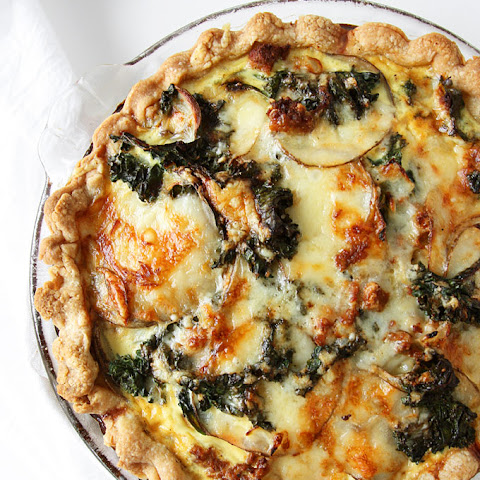 Kale Chorizo Potato Quiche