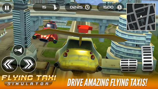 Flying taxi simulator