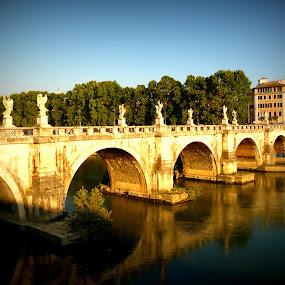 Ponte Sant' Angelo by Dhannya Jacob - Buildings & Architecture Bridges & Suspended Structures ( pwcbridges )