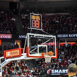 3 pointer is good! by Jason Lockhart - Sports & Fitness Basketball ( basketball, wisconsin, 3-point shot, kohl center, big ten, wisconsin badgers )