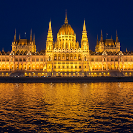 parlament by Branislav Rupar - Buildings & Architecture Other Exteriors ( lights, hungary, parliament, budapest, old, building, europe, nikon d600, night, government, city, river )