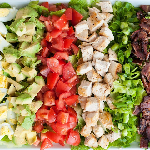 Classic Cobb Salad with Homemade Red Wine Vinaigrette