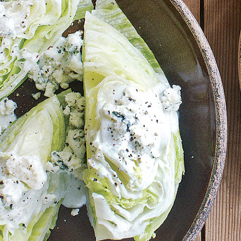 Iceberg Wedges with Blue Cheese Buttermilk Dressing
