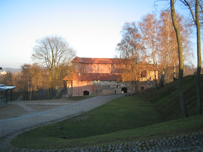 Remains of Upper Castle`s Keep in Vilnius