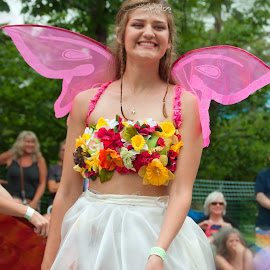 Abby the Fairy by Ginny Anderson - People Musicians & Entertainers ( parade, girl, fairy, costume )