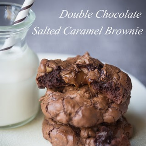 Very Sinful Double Chocolate Salted Caramel Brownie