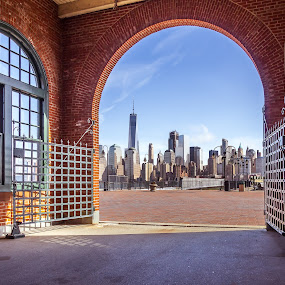 Portal to the New World by Michael Sharp - Buildings & Architecture Architectural Detail ( liberty state park, manhattan, new york city, new york, central railroad of new jersey terminal, united states )