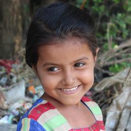 Innocence by Vipul Kotecha - Babies & Children Child Portraits ( face, girl, smile, portrait, human )