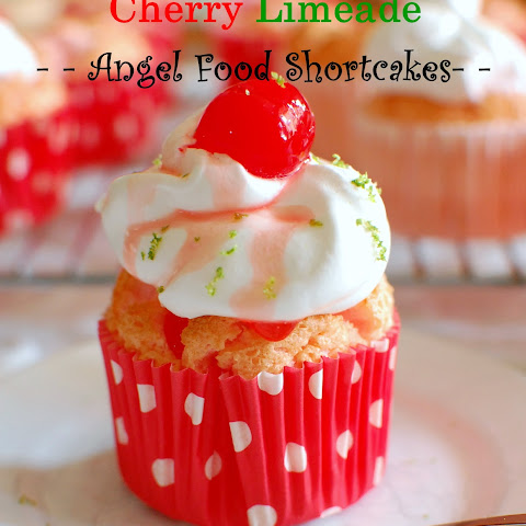Cherry Limeade Angel Food Shortcake and Blogiversary