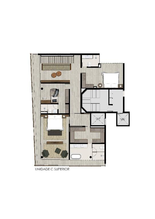 Planta Duplex Superior  Unidade C - 393 m²