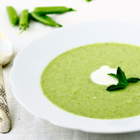 SNAP PEA SOUP WITH MINT AND LEMON