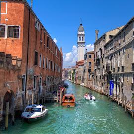 Venice by Dmitriy Andreyev - City,  Street & Park  Street Scenes