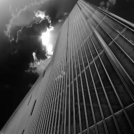 Noir Visions by Rebeka Legovic - Buildings & Architecture Office Buildings & Hotels ( blackandwhite, building, sky, black and white, architecture )