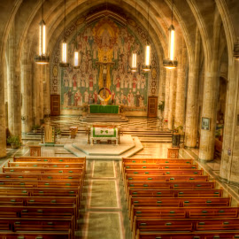 Inside the Chapel by Michele Richter - Buildings & Architecture Places of Worship ( hdr, marty chapel )