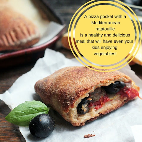 California Ripe Olives are an essential part of the Mediterranean diet and are also a flavorful addition to traditional foods from other cuisines, like these  veggie packed pizza pockets .