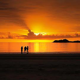 Midnight sun by Jan Helge - Landscapes Sunsets & Sunrises ( amazing, midnight, lofoten, sun, norway )