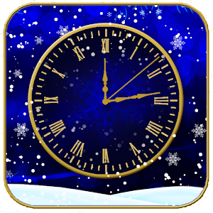 Winter Clock live wallpaper