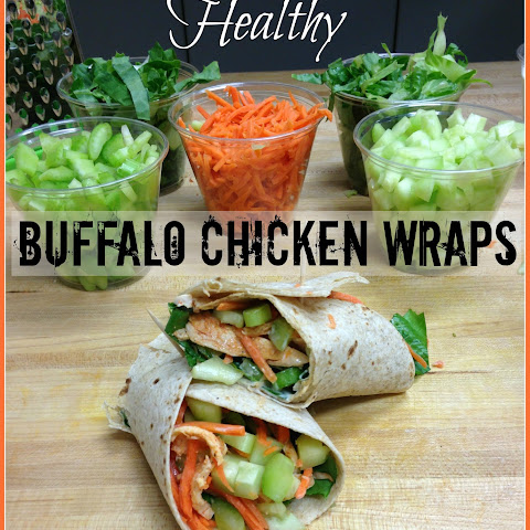 Healthy Buffalo Chicken Wraps