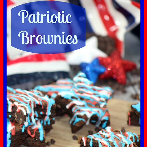 Patriotic Brownies with Star Frosting