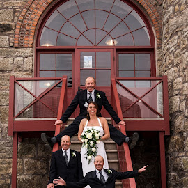 did i? by Keith Sutton - Wedding Bride & Groom ( wedding, engine house, bride, groom, cornwall )
