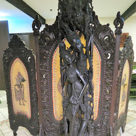 Screen at Indonesian Restaurant Entrance by Dennis  Ng - Artistic Objects Furniture (  )