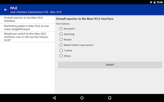 Screenshot of NUS IVLE