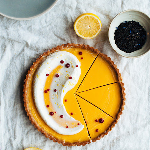 Lemon & Earl Grey Tart with Buttermilk Chantilly