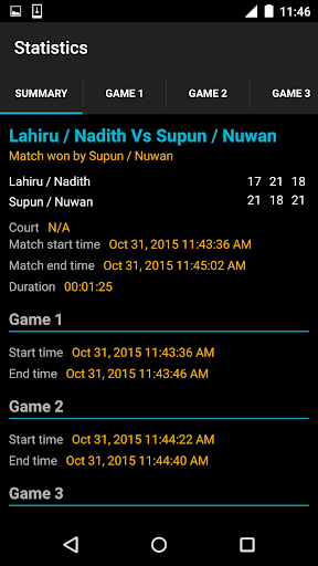 Badminton Umpire Pro - screenshot