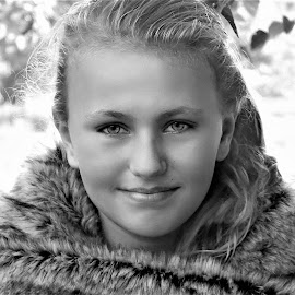 Joc Wrap B&W by Cheryl Korotky - Black & White Portraits & People