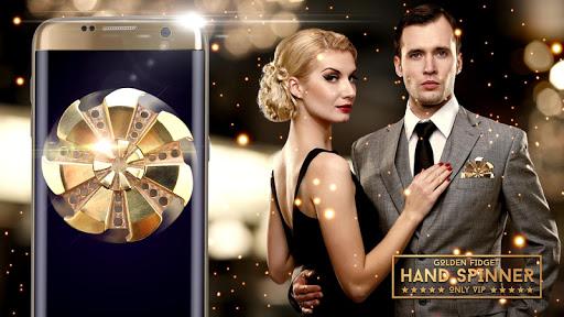 Golden fidget hand spinner For PC