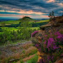 Roseberry Topping by Nigel Smith - Landscapes Sunsets & Sunrises ( canon, clouds, hill, mountain, 70d, roseberry topping, cloudscape, landscape, sun, canon eos 70d, landmark, eos, england, sky, sigma, yorkshire, sunset, landscapes )