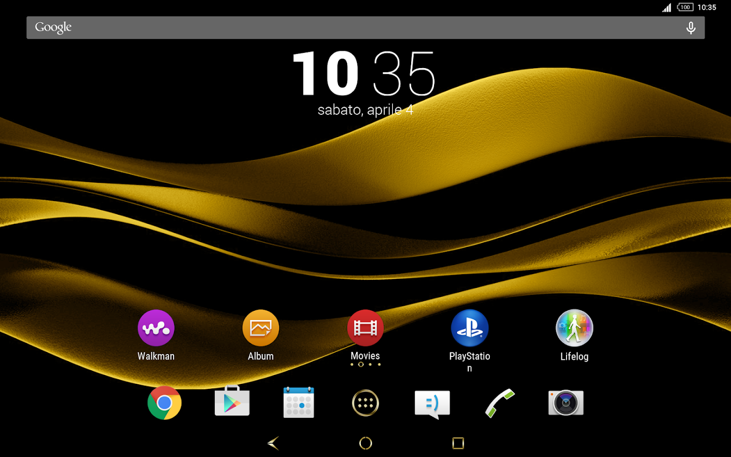 Black & Gold Theme for Xperia Screenshot 9