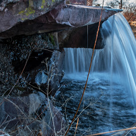 Watery View by James Martinez - Nature Up Close Water ( water, waterscape, waterfall )