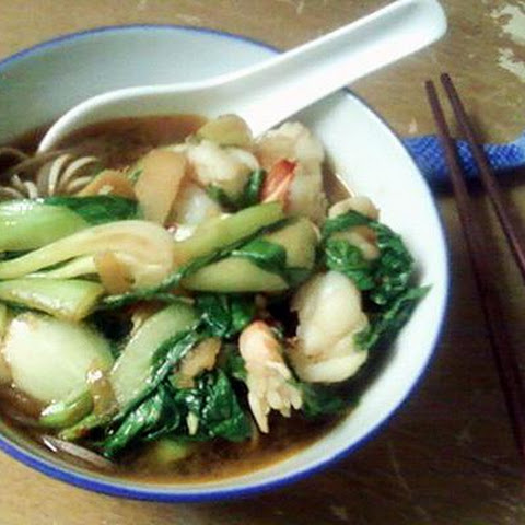 Asian Noodle Shrimp Soup