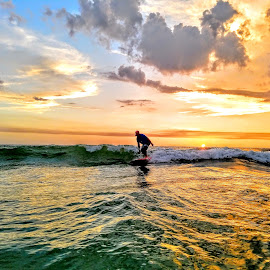 Sunset wave Ryder of the gulf by Jeffrey Lee - Landscapes Sunsets & Sunrises ( sunset wave ryder of the gulf )