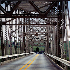 by Allie Cook - Buildings & Architecture Bridges & Suspended Structures ( idaho, industrial, texture, road, bridge )