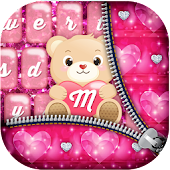 Download Pink Glitter Keyboard Themes APK for Laptop