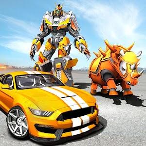 Futuristic Rhino Robot Car Transformation Game Online PC (Windows / MAC)