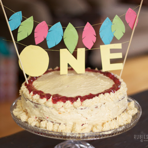 Coconut Flour Birthday Cake with Maple Buttercream Frosting (Baby Friendly)