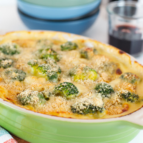 Baked Four Cheese Gnocchi w/ Broccoli